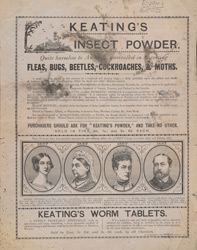 Advert For Keating's Insect Powder